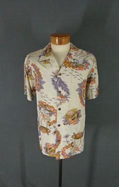 18f66fb7 Rare Vintage Surfrider 100% Rayon Hula Islander Girl Hawaiian Aloha Shirt  Medium #Surfrider #