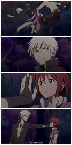 "Akagami no Shirayukihime | I love how Zen just acts all nonchalant and just goes like ""Hey, Shirayuki"""
