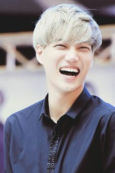 "Exo - Kai ""He's got the biggest smile in exo"" Good Smile, Beautiful Smile, Make You Smile, Kai Exo, Exo Xiumin, Kim Min Seok, Xiu Min, Exo News, Exo Korean"