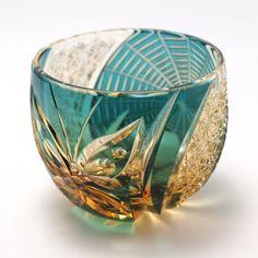 Edo kiriko glass-3