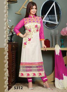 2c0e992862 Buy Kmozi Pink And White Cotton Salwar Kameez KMD724-5312 at lowest price  Cotton Salwar
