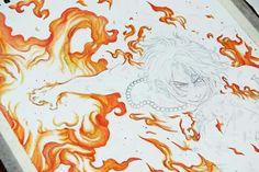 ~One Piece, Portugese D. Ace WIP~ Jessica Ramella 2013