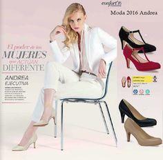 Andrea: Calzado Ejecutivo para Mujer, Moda 2016. Consulta los versátiles modelos de tendencia juvenil. #AndreaEjecutiva #Andrea