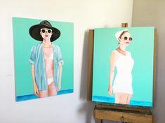 Monday Studio Vibes 😎🌊 #summertime #beachbabe #beachhousedecor #bikinigirls #hayleygaberlavage #oil #figurative #contemporaryart Instagram Artist, Beach House Decor, Beach Babe, Figurative, Bikini Girls, Summertime, Contemporary Art, Oil, Studio
