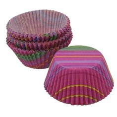 Stripes are back! These neon-bright, colorful little cups will look snappy and sharp on your party table. Fill with candy or nuts or use for mini muffins. Mini size diameter and tall. Cupcake liners are made of microwave-safe paper. Wilton Cupcakes, Mini Cupcakes, Cupcake Liners, Cupcake Holders, Cupcake Supplies, Little Cup, Mini Muffins, Party Treats, Flower Making