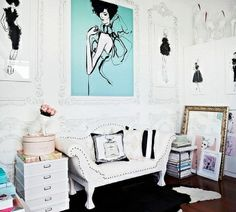 Gallery Wall | a fashion infused interior design blog Megan Hess