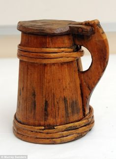 Saved from Henry VIII's ship, the Mary Rose (sunk in 1545), this tankard was used by sailors to drink their daily ration of gallon of beer