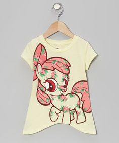 Look at this #zulilyfind! My Little Pony Light Yellow My Little Pony Sidetail Top - Toddler by My Little Pony #zulilyfinds