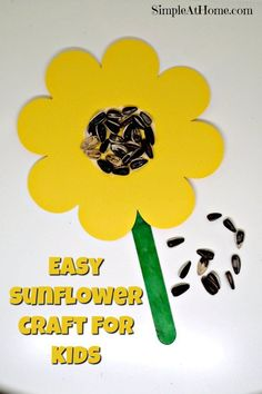 Kids crafts | Spring | Summer | flowers | sunflower | seeds