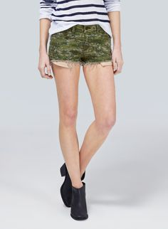 Rag & Bone/JEAN Mila Short in Camo, now available in-store at Aritzia.