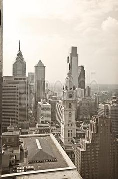 Philadelphia Aerial - Stock Photo | by brandonaaron Memories of historic events filed me with awe as I navigated up high in the city of Brotherly Love.