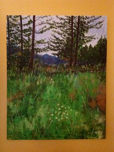 Shogran valley.Pakistan. Acrylic 24x30inch on stretched canvas.by Yasmin Hasnain.