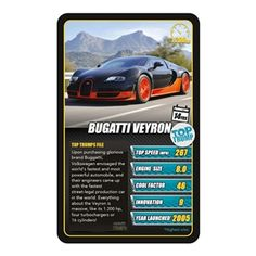 Want to #play a #fun game and #learn about #cars? Check out Top Trumps, the #educational game that makes learning fun! Featuring #Bugattii