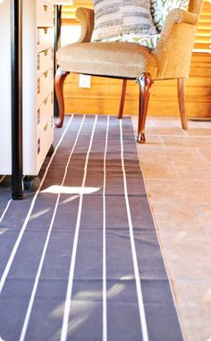 Combine two rugs to make a runner!