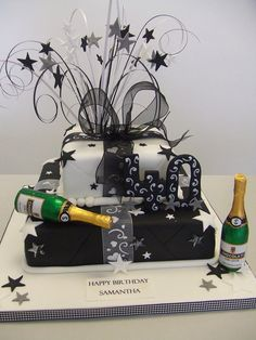 40th Birthday Cakes for Women | CAKE - black and white 40th | Flickr - Photo Sharing!