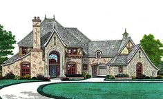 House Plan 66247 | French Country   Southern    Plan with 4906 Sq. Ft., 5 Bedrooms, 6 Bathrooms, 3 Car Garage