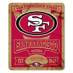 San Francisco 49ers NFL Light Weight Fleece Blanket (Marque Series) (50inx60in)