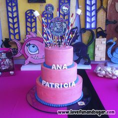 Torta de Monster High: ANA PATRICIA. Love, Fun and Sugar. #torta #monsterhigh #tortas #monsterhighcake #tortademonsterhigh #lovefunandsugar #reposteria #creativa #reposteriacreativa #yummy #ñomi #sugarart #dessert #dulces #postres #bake #baking #cook #cooking #cake #cakes #pastries #pasteleria #pastelería #patisserie #cocina #sugar #sweet #delicious Link-> http://www.lovefunandsugar.com/2016/02/torta-de-monster-high-ana-patricia.html