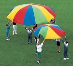 Le parachute est une grande toile synthétique, très solide, avec des poignées tout autour. Il sert de support à de nombreux jeux et moments d'échanges et de partages, privilégiant la coopération entre les joueurs. C'est un excellent outil pour intégrer des enfants porteurs de handicap dans un groupe et faire coopérer ensemble des personnes de …