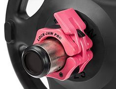 Lock-Jaw 2 Inch Pro Locking Olympic Barbell Collar Pair PINK - Bar Clamps for Women's Fitness and Weight Training