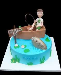 Fishing cake for the fisherman in the family. #fishing