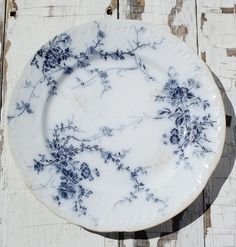 Vintage English Transferware Plate Blue
