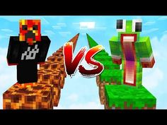 PRESTONPLAYZ vs UNSPEAKABLEGAMING! (1v1 Minecraft Parkour Race) Minecraft Mobile, Minecraft Videos, Minecraft Games, Minecraft Crafts, Preston Playz, Famous Youtubers, Minecraft Tutorial, Youtube Gamer, Minecraft Creations
