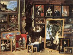 3.The Gallery of Archduke Leopold in Brussels -1641- David Teniers the Younger-Staatsgalerie Stuttgart