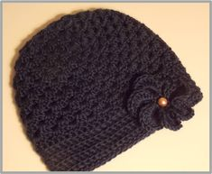 Adult Striped Beanie Crochet Pattern ... Man or Woman Beanie ... Instant Download