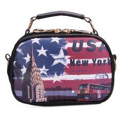 Sale 26% (10.35$) - Fashion Women Bag Graffiti Cartoon Cross Body Bag Small Handbag