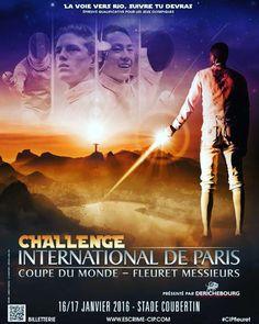 Men's foil World Cup #WCFoil2016 16-17 January in Paris!  #roadtorio  @rio2016 #fencing #CIPfleuret #2016 by fencing_fie