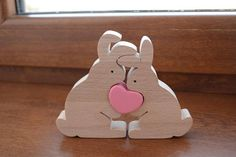 Easter gift – Wooden rabbits family – Easter bunny – Bunny toy – Love gift – Anniversary gift – Easter decoration – Love rabbits – Keep up with the times. Easter Gift, Easter Crafts, Easter Bunny, Bunny Bunny, Wooden Crafts, Diy And Crafts, Homemade Anniversary Gifts, Anniversary Ideas, Wedding Anniversary