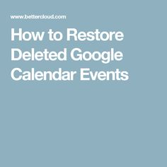 How to Restore Delet