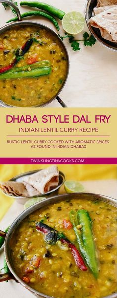 The Dhaba Style Dal Fry Recipe is a popular Indian Lentil Recipe that is served in Dhabas, on Indian highways. The Dhaba style dal.and aromatic tempering. Indian Lentil Curry, Lentil Recipes Indian, Indian Food Recipes, Indian Dal Recipe, Punjabi Recipes, Tikka Recipe, North Indian Recipes, Punjabi Food, Veg Recipes