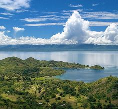 View of Lake Malawi descending from Livingstonia towards the coast.