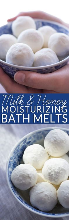 Homemade bath melts are the perfect way to soothe itchy skin while you soak. Get the easy recipe and learn why milk and honey are wonderful natural body care ingredients. All natural body care. Non-toxic bath and beauty. DIY bath bombs for bridal shower. Diy Spa, Diy Lush, Homemade Bath Bombs, Homemade Soaps, Homemade Facials, Bath Bomb Recipes, Soap Recipes, Detox Recipes, Bath Melts