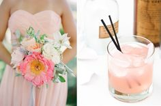 Perfect Pairs: Cocktails + Bouquets | Wedding Blog – Wedding Colors & Inspiration | Grey Likes Weddings