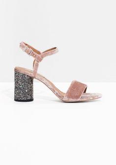 & Other Stories | Velvet Sequin Heel Sandalette Come to Mommy