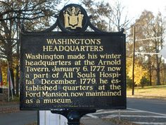 Washington Headquarters, Morristown, NJ