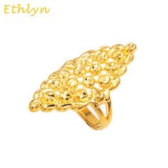 Ethlyn Elegantes Mulheres da moda Únicos acessórios Nigrian Etíope Africano jóias anéis 22 K Banhado A Ouro ajustável anel R031 Chand Bali Earrings Gold, Gold Earrings, India Jewelry, Gold Jewelry, Jewelry Rings, Ladies Finger Ring, Ethiopian Jewelry, Unique Fashion, Fashion Women