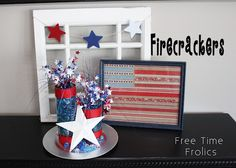 DIY 4th of July firecrackers decor