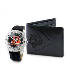 Cincinnati Bengals Watch and Wallet Set