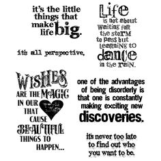 Tim Holtz Cling Mount Stamps - Good Thought CMS085