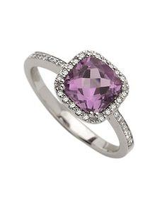 Brian Danielle Amethyst & Diamond Ring