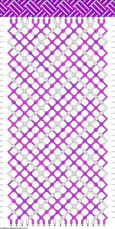 Muster # 37912, Streicher: 18 Zeilen: 36 Farben: 4