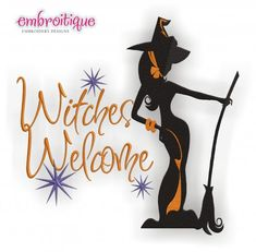 Witches Welcome Halloween Chic design