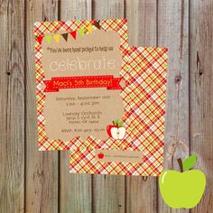 Apple Picking Party Invitations