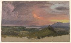 Frederic Edwin Church | Sunset in the Hudson Valley (1870-1875) | Artsy