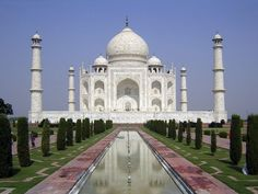 Taj Mahal, India: The sight of this mansion creates sorrowing sighs; And the sun and the moon shed tears from their eyes.