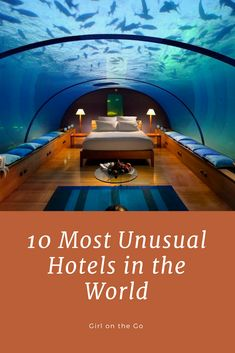 usual hotels l treehouse l treehouse l dog bark inn l cave hotel l wagon camping l trailer camping l girl on the go l underwater hotel. Unusual Hotels, Affordable Hotels, Hotels And Resorts, Best Hotels, Luxury Resorts, Travel Around The World, Around The Worlds, Underwater Hotel, Cave Hotel